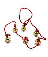 Колокольчики бронзовые на веревке (6 шт) (128 см) (Bell String-Kali 2.5)