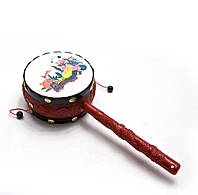 Барабан-трещетка с рисунком (24х9,х5 см)