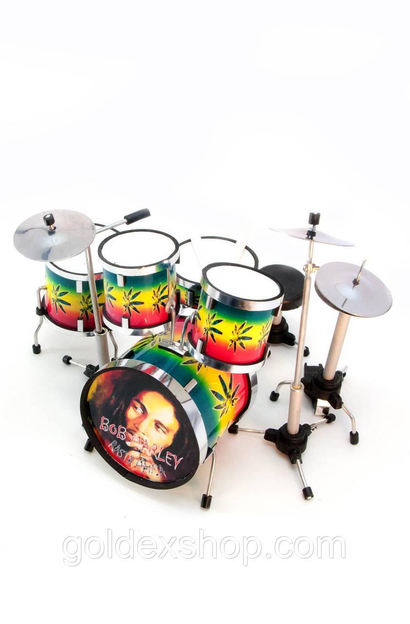 "Барабанна установка ""Bob Marley"" сувенірна (13х13х11 см)"