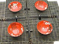 """Сервиз для лапши """"Красный с цветами сакуры"""" (4 персоны) (34,5х34,5х7 см)"""