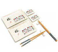 "Сервиз для суши ""Коты"" (2 персоны) (28х28х3,5 см)"
