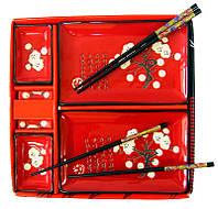 Сервиз для суши (2 персоны) (28х28х3,5 см) 23681