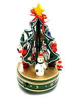 Елка музыкальная заводная (вращается)дерево (21х10,5х10,5 см)