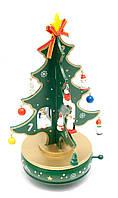 Елка музыкальная заводная (вращается) дерево (25,5х14,5х14,5см)