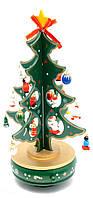 Елка музыкальная заводная (вращается) дерево (28х16х16 см)
