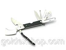 Секатор садовода с ножом, пилой и отвертками (11 в 1) (20х4,5х2 см)