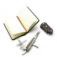 Подарочный набор (Нож,записная книжка,ключница) (24х17х4 см)