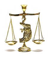 "Подсвечник ""Слон"" бронзовый (20х15х6,2 см)"