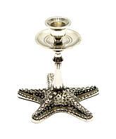 """Підсвічник бронзовий """"Морська зірка"""" (12,5х12,5х12 см)"""