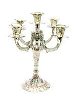 Подсвечник бронзовый на 5 свечей цветной (26х25х25 см)