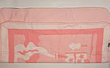 Одеяло плед для новорожденного розовый  на флисе Турция., фото 3