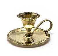 Подсвечник бронзовый с ручкой (9х8х4,5см)