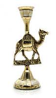 """Підсвічник бронзовий з перламутром """"Верблюд"""" (15,5х7,5х5,2 см)"""