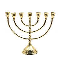 Подсвечник менора бронзовый на 7 свечей (20х26х8,5 см)