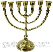 """Підсвічник на 7 свічок """"Менора"""" бронзовий (17х17х7 см)"""