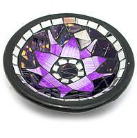 """Тарелка терракотовая с мозаикой """"Лотос"""" (d- 14,5 h-3 см)"""