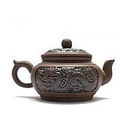 """Чайник заварочный с ситом """"Дракон"""" глиняный"""
