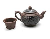 """Чайник глина с ситом """"Дракон"""" (500 мл (13х21х11,5 см)"""