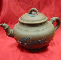 Чайник заварочный глиняный (400мл.) (17х10х10 см)