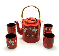 Сервиз керамический (чайник ,4 чашки) (28х16х12 см)