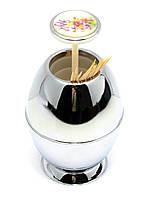 Подставка для зубочисток металл (10х6,5х6,5 см)