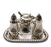 Солонка ,перечница ,горчичница бронза (н-р 3 шт) (17,5х12,5х9 см)