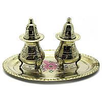 Солонка ,перечница бронза цветная (н-р 2 шт) (17,5х12,5х9 см)