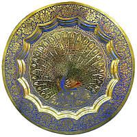 Тарелка бронзовая настенная (15 см)