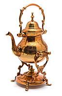 """Чайник бронзовый с горелкой на подставке """"Медь"""" (30,5х19х16 см)"""