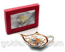 """Подставка под чайные пакетики (11,5см.) (TBP1008) """"Цветы"""""""