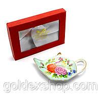 """Подставка под чайные пакетики (11,5см.) (TBP1324) """"Цветы"""""""