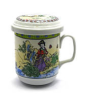 """Чашка заварочная с ситом (230мл.) (SFC23) """"Рыбалка"""" (h-11см., d-6.5см.)"""