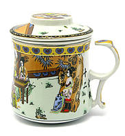 """Чашка заварочная с ситом (300мл.) (""""Гейши"""" (h-9cм, d-8см)"""