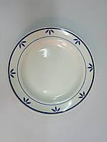 """Тарелка Будянский фаянс (d-240 мм) """"Бело голубая"""""""
