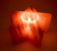"Подсвечник соляной ""Звезда"" (ch-9) (13х13х6,5 cm)  (Гималайская соль)"