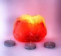 """Подсвечник соляной """"Натурал"""" 0,8-1,1 кг  (Гималайская соль)"""