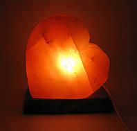 """Соляная лампа """"Сердце"""" (SL-24) (18х18х10 см)  (Гималайская соль)"""