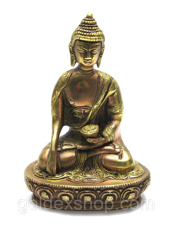 Статуэтка Будда бронзовый (высота 18 см)