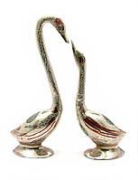 """Лебеди бронзовые пара (28,5х9х6 см) (Duck Set 12""""-CDC)"""
