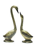 Лебеди бронзовые пара черные (28,5х9х6 см)