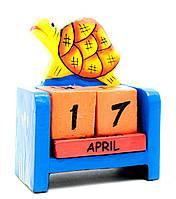 """Календарь настольный """"Черепаха"""" дерево (10х7,5х4 см)"""
