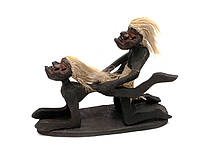 "Папуасы ""Серфингисты Камасутра "" дерево (23х17х14 см)"