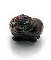 Сатуэтка Бегемотики пара каменная крошка (3,5х4,5х4 см)