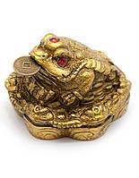 Жаба каменная крошка желтая (4,5х4,5х3,5 см)