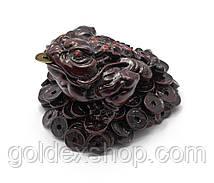 Жаба на монетах кам'яна крихта коричнева (7х10,5х9,5 см)