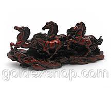 Коні 5шт кам'яна крихта коричневі (20,5х9х6 см)