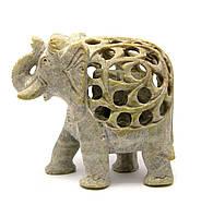 Слон резной каменный (10х11х5 см)