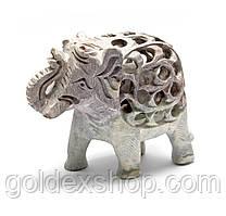 Слон з мильного каменю різьблений (10,5х12,х6 см)
