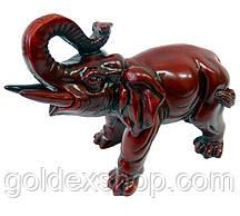 Статуетка Слон кам'яна крихта коричневий (16х13х7 см)