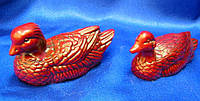 Утки-мандаринки каменная крошка коричневые (9х4х4 см)